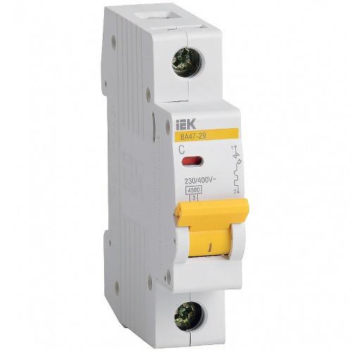 Автоматический выключатель IEK ВА47-29 1P 10A х-ка C