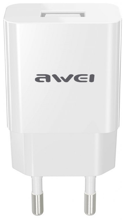Зарядний пристрій Awei C-810 з кабелем microUSB (1USB 2.4A) Білий