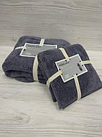 Комплект полотенец микрофибра (лицо+баня), фото 1