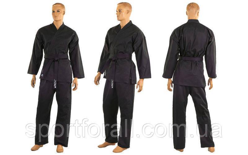 Кимоно для карате черное MATSA МА-0017 рост 150 см