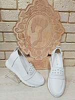 Женские кожаные  балетки белые RS 1926/6 с фурнитурой, фото 1