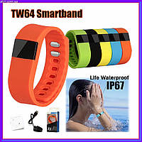 Умные часы для занятий спортом,фитнеса Smartband TW 64 смарт браслет, фото 1
