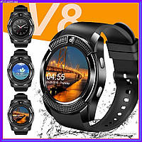 Сенсорные умные часы Smart Watch V8 Серые смарт часы, фото 1