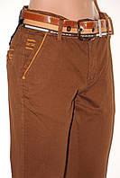 Стильные коричневые джинсы мужские REDMAN