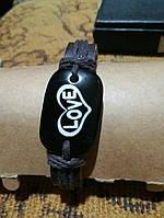 Кожаный браслет Любовь Love, фото 1