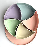 Менажница пластиковая секционная (круглая)