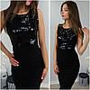 Платье пайетки РАЗНЫЕ ЦВЕТА Код. Е713-0511 - Фото