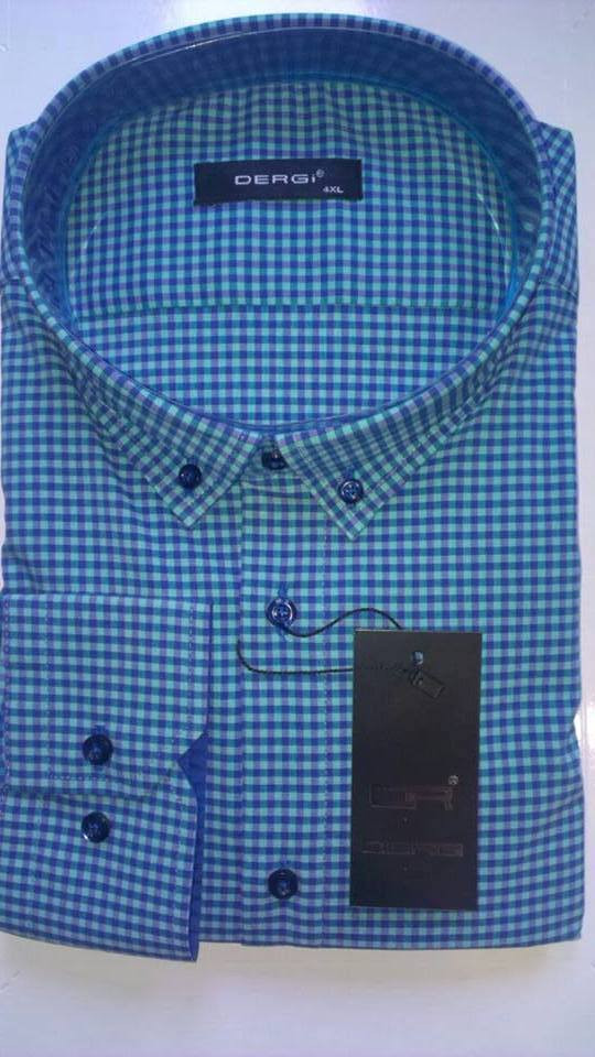 Рубашка мужская большого размера батал с длинным рукавом DERGI, код 3102-2