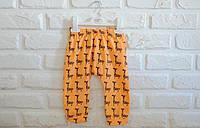 Веселые хлопковые штанишки на малышей 12 и 18 мес