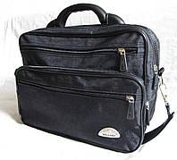 e2cabaadd031 Мужская сумка Wallaby 26531 черная полукаркасная барсетка через плечо папка  портфель А4 35х26х17см