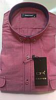 Мужская рубашка с длинным рукавом приталенная DERGI, код 3116-2