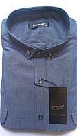 Мужская рубашка с длинным рукавом приталенная DERGI, код 3116-3