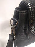 Модная маленькая женская сумка. Сумка клатч женская через плечо/черная/Сумки, фото 4