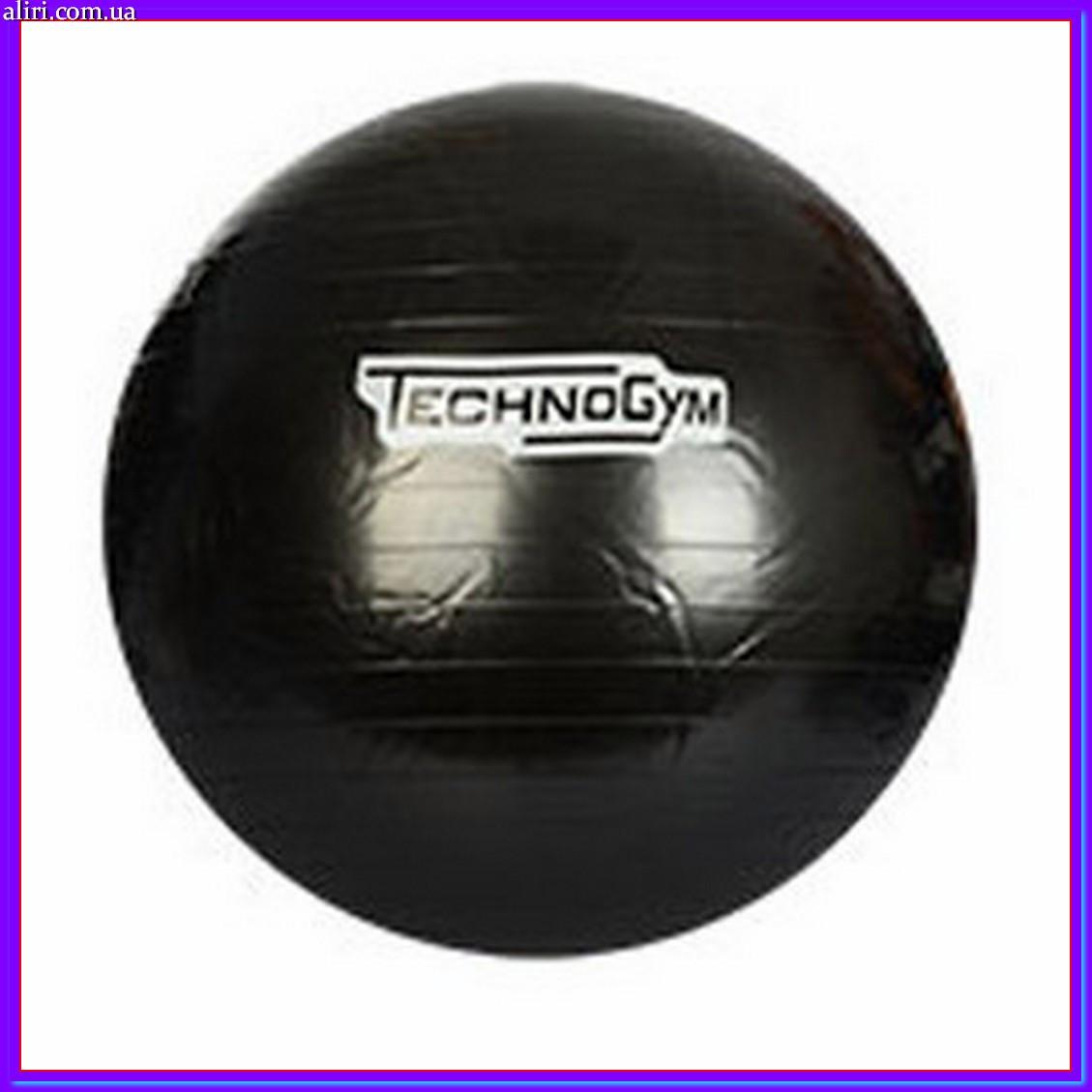 Мяч для фитнеса-65см MS 0982 черный