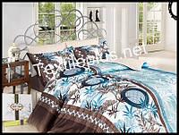 Комплект постельного белья First Choice бамбук Tamary yesil полуторка (kod 3160)