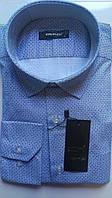 Мужская рубашка с длинным рукавом приталенная DERGI, код 3125-1