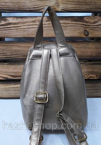 Рюкзак с золотистыми паетками и материалом из искусственной кожи серого цвета, фото 2