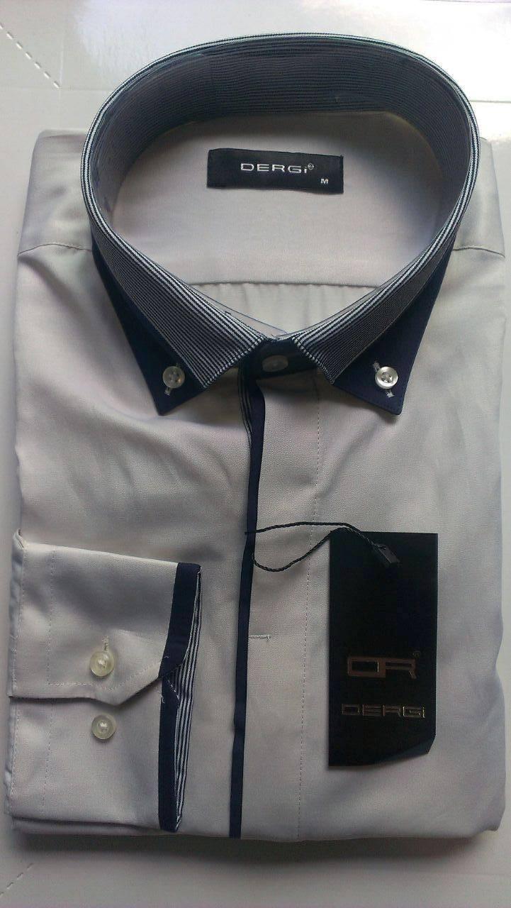 Чоловіча сорочка з довгим рукавом приталені DERGI, код 3145-4