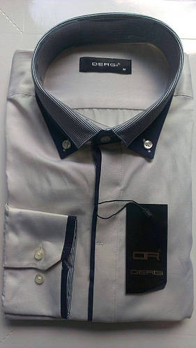 Мужская рубашка с длинным рукавом приталенная DERGI, код 3145-4