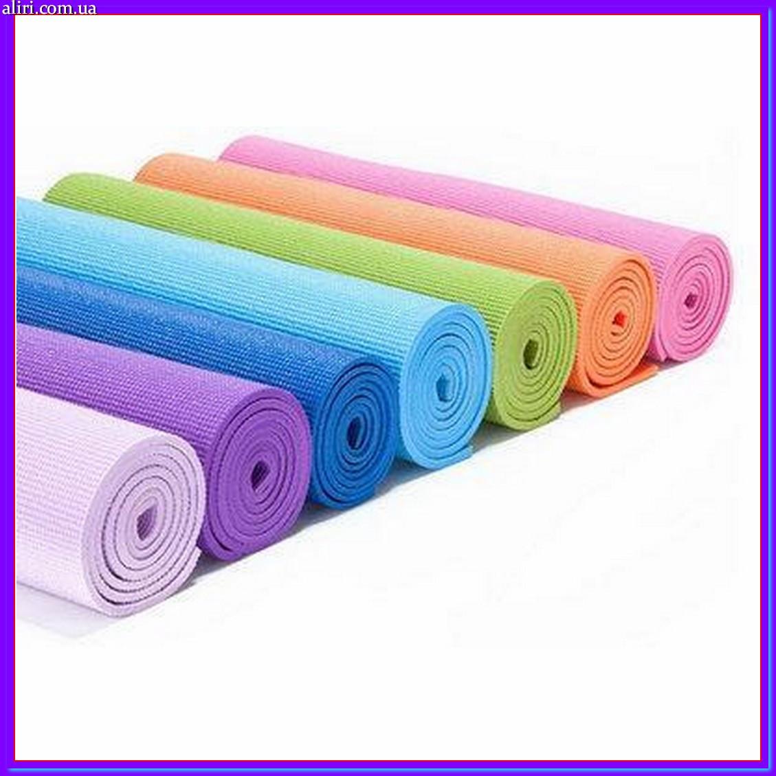 Коврик для йоги и фитнеса MS1847, йогомат в ассортименте