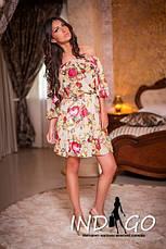 Платье роза  шифон, фото 3
