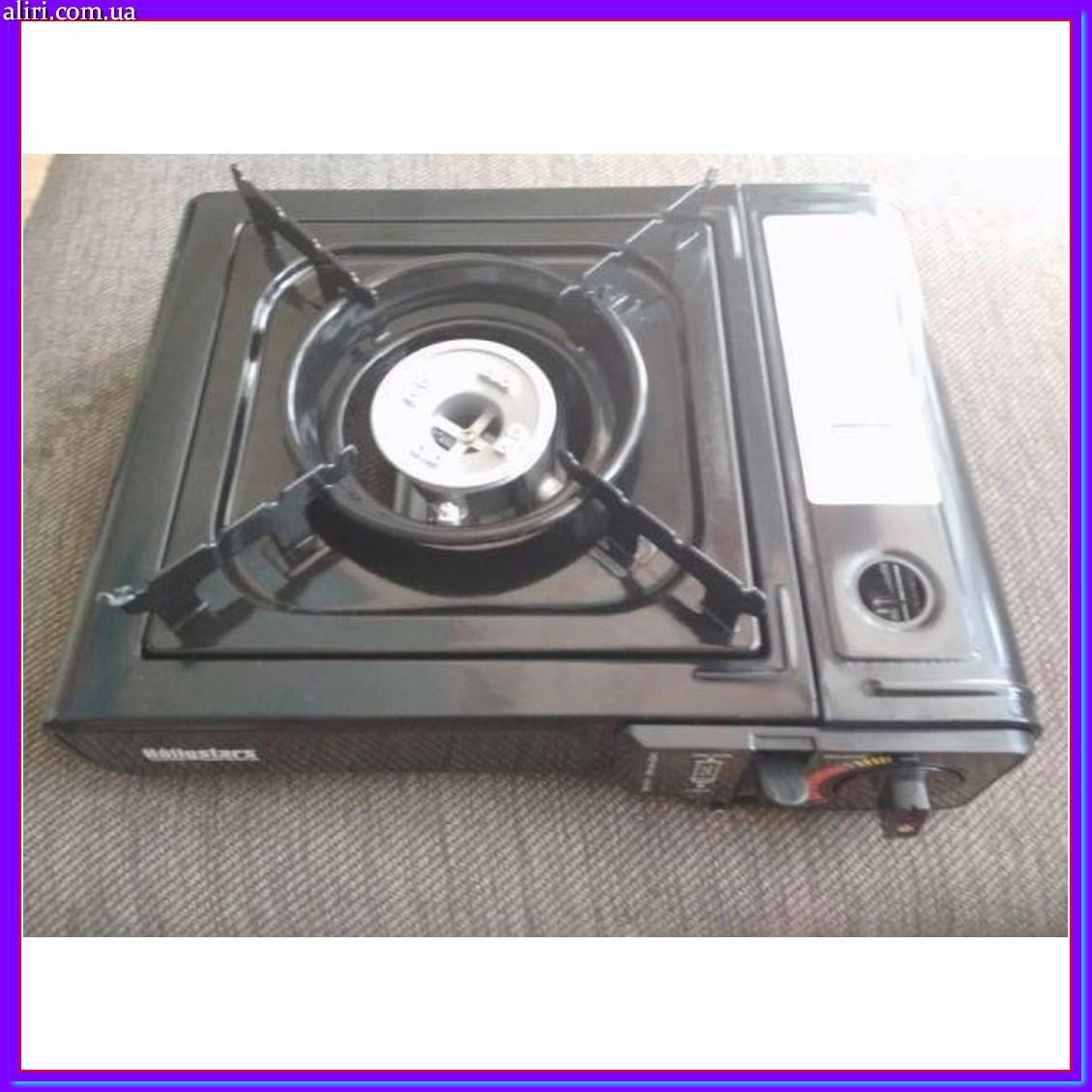 Портативная газовая плита двойного действия с адаптером в кейсе TIGER BSZ-188-A