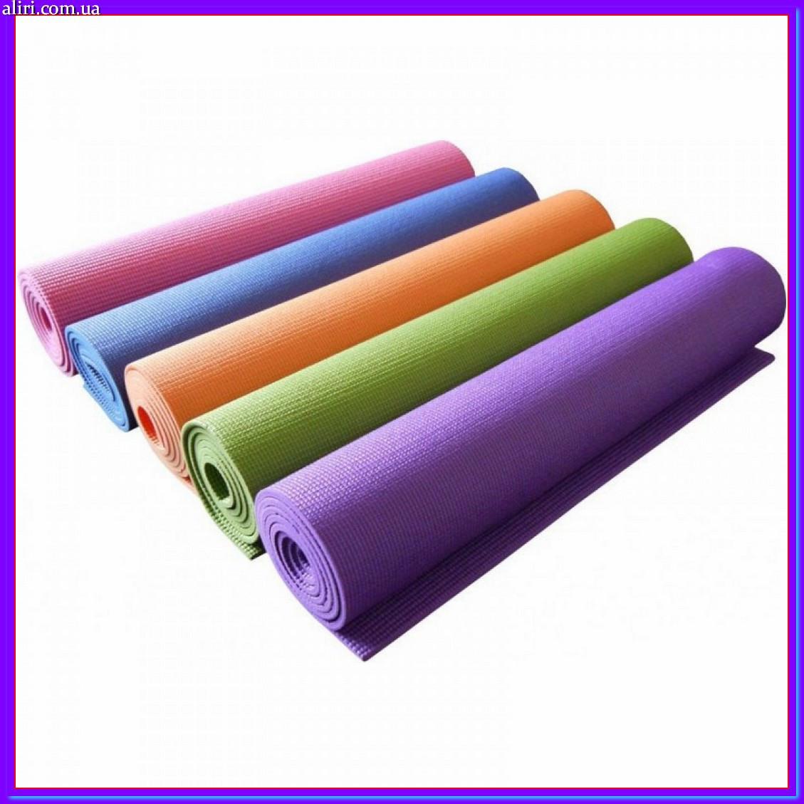 Коврик для йоги и фитнеса 181*60 см, Йогамат MS0613