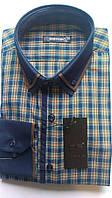 Мужская рубашка с длинным рукавом приталенная DERGI, код 3174-2-1