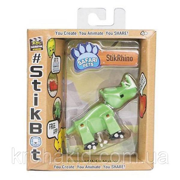 Фігурка Носоріг StikRhion для анімаційного творчості TST622SF Stikbot Safari Pets