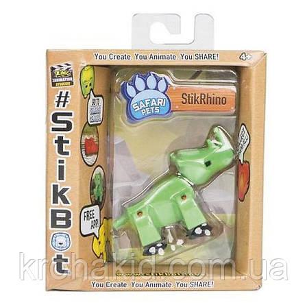 Фігурка Носоріг StikRhion для анімаційного творчості TST622SF Stikbot Safari Pets, фото 2