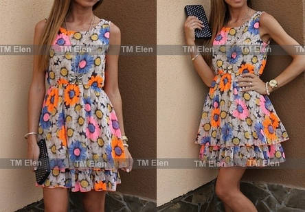 Платье ромашки шифон , фото 2