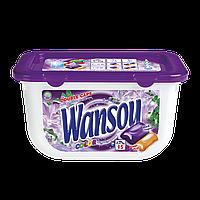 """Гелевые капуслы для стирки концентрированные двухкамерные """"Wansou"""" Color  (15шт)"""