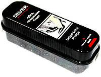 Сильвер Silver губка придающая блеск, губка пропитка для обуви черная, фото 1