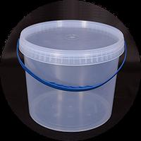 Ведро пластиковое пищевое с крышкой 10литров.