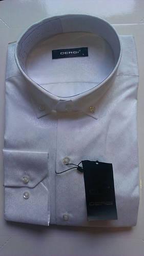 Мужская рубашка с длинным рукавом приталенная DERGI, код 5167-4