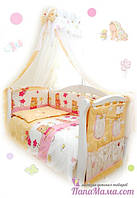 Комплекты в кроватку для новорожденных Twins Standart Садовники