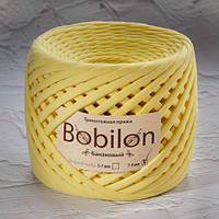 Трикотажная пряжа Bobilon (7-9 мм), цвет Банановый