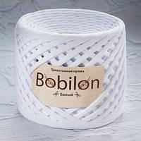 Трикотажная пряжа Bobilon (7-9 мм), цвет Белый