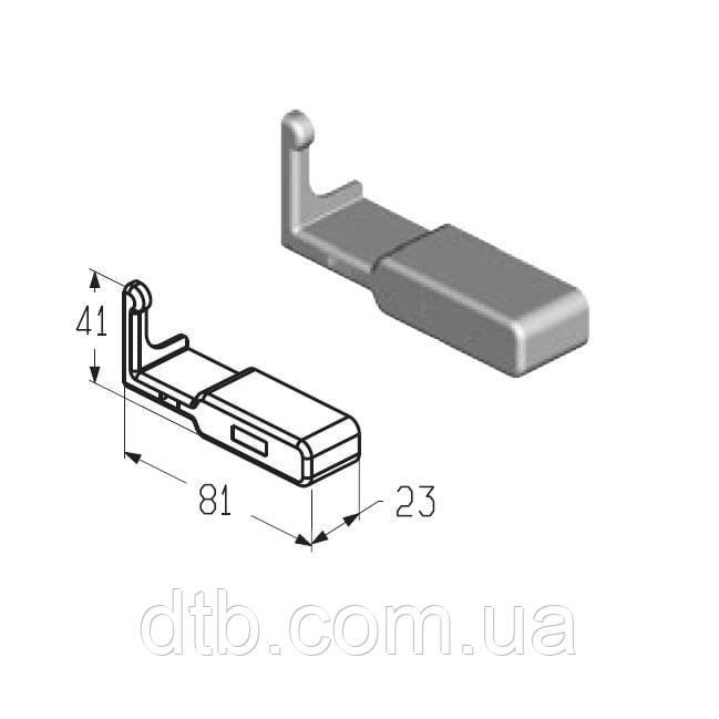 Заглушка P19 для профиля усиливающего (PRG-19, PRG-20) ворот Alutech