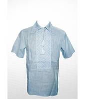 Рубашка вышитая гладью «Ромбы» М-415-2
