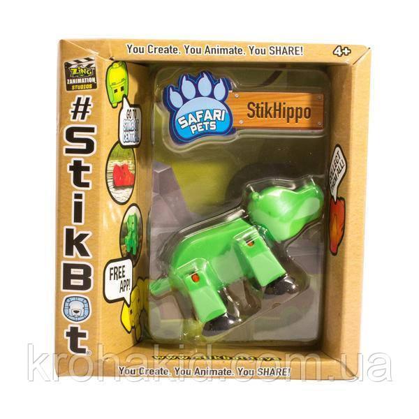 Фигурка Бегемот StikHippo для анимационного творчества TST622SF Stikbot Safari Pets
