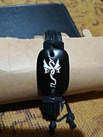Кожаный браслет ручная работа, фото 1