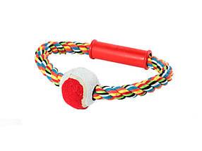 Игрушка для собак Канат грейфер круг, теннисный мяч, 18 см
