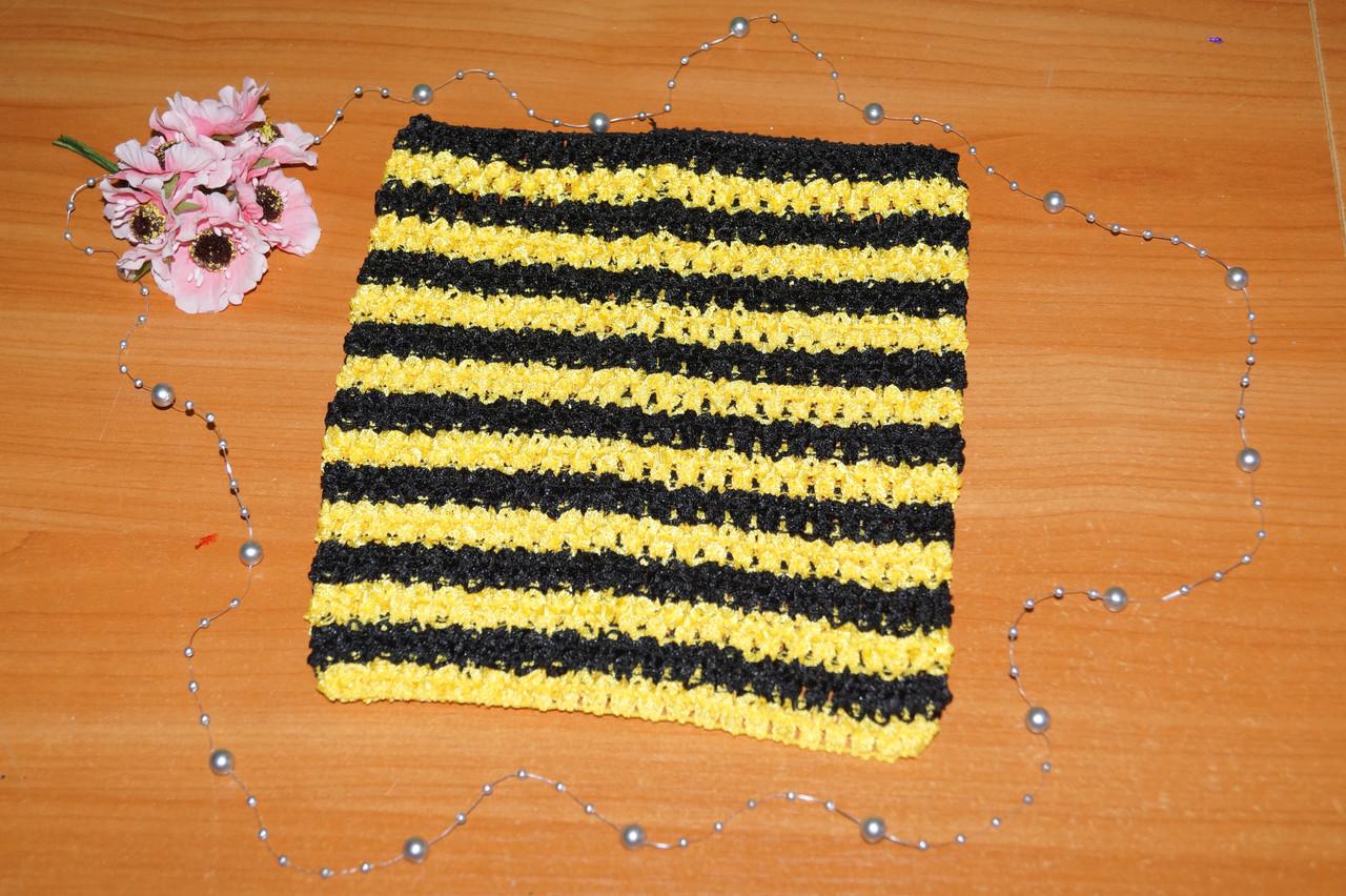 ТОП-сетка для плаття туту цвет полоска желтая и черная
