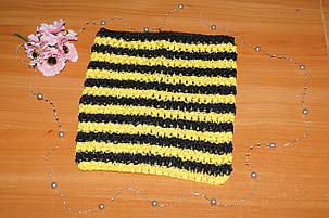 ТОП-сетка для плаття туту цвет полоска желтая и черная, фото 2