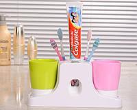 Выжиматель для тюбиков + 4 подставки-стакана + подставки под 8 зубных щеток (dis6)
