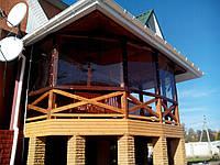 Прозрачные шторы ПВХ для загородных домов, коттеджей, фото 1