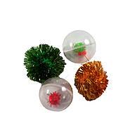 Набор игрушек д/кош (2 пласт.шара+ 2шурш.иг)