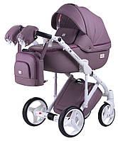 Детская коляска универсальная 2 в 1 Adamex Luciano кожа 100% Q115 (Адамекс Лусиано, Польша)