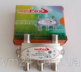 Комутатор DiSEqC 2.0 4x1 OpenFox GD-41NC